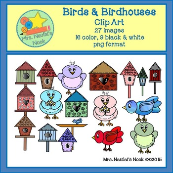 Birds & Birdhouses Clip Art