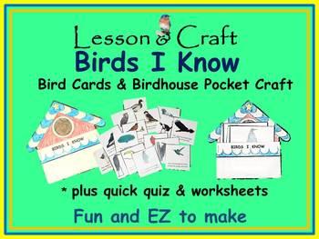 Birds! Birds! Birds! * Birds I Know mini-unit * Bird Cards