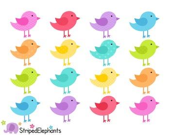 Birds Clip Art - Bright