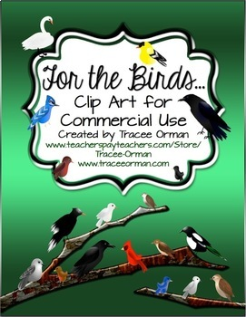 Birds Clip Art Graphics for Commercial Use