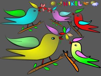 Birds - Clip Art - Personal or Commercial Use