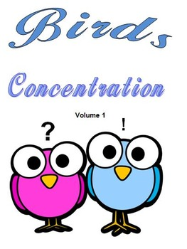 Birds Concentration  Volume 1