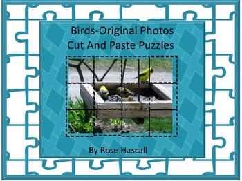 Birds-Original Photos Cut and Paste Puzzles