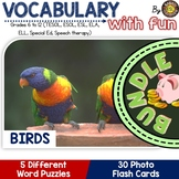 Birds Vocabulary Words: Flash Cards and Word Puzzles