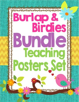 Birds and Burlap Theme Classroom Teaching and Learning Dec