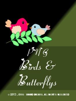 Birds and Butterflys Clip Art