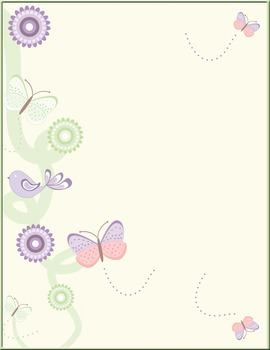 Birds and butterflies background