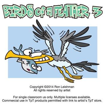 Birds of a Feather 3 Cartoon Clipart
