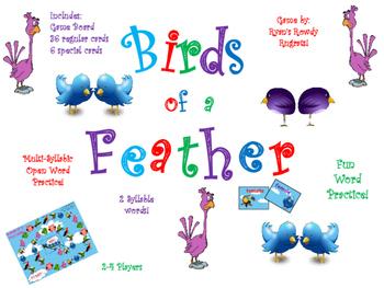 Birds of a Feather - Multi-syllabic Open Words