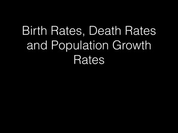 Birth, Death and Population Growth Rate: A Short Introduct