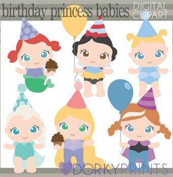 Birthday Baby Princess Clip Art