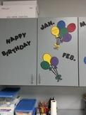Birthday Balloon Bulletin Board Display Student Birthdays