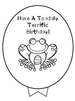Birthday Balloon - Frog/Toad..  Freebie