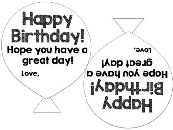Birthday Balloon Templates