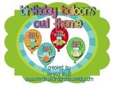 Birthday Balloons Owl Theme