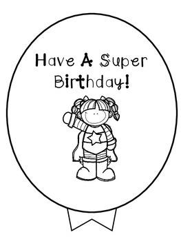 Birthday Balloons -Superhero Freebie