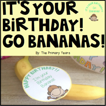 Birthday Banana Label!
