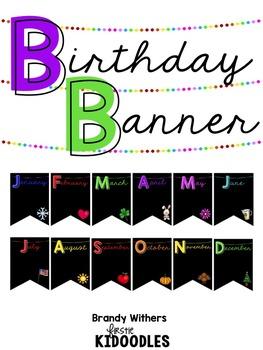 Birthday Banner {Black}