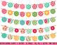 Birthday Banner Button Bunting Flag Clipart Clip Art