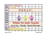 Birthday Bar Graph and an Into,Through & Beyond Mini Lesso