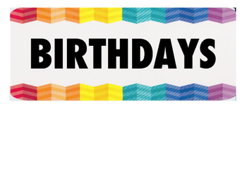 Birthday Board!