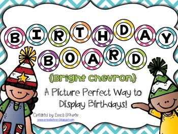 Birthday Board - Bright Chevron