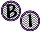 Birthday Board - Chevron & Purple