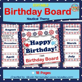 Birthday Board {Nautical Theme}