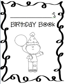 Birthday Book for Students (Positive Reinforcement and Wri