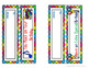 Birthday Bookmarks and Treat Bag Toppers Printables