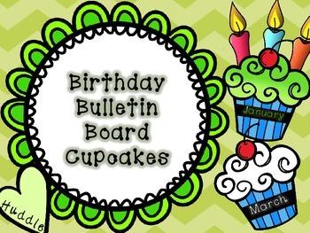 Birthday Cupcake Bulletin Board Display
