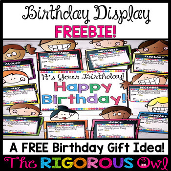 Birthday Bulletin Board Display with Birthday Homework Pass