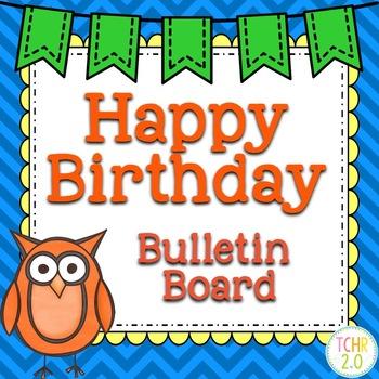 Birthday Bulletin Board Owls Back to School