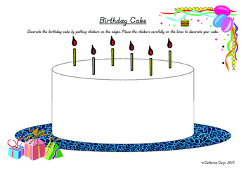 Birthday Cake Activity to Improve Resting Letters on the Line