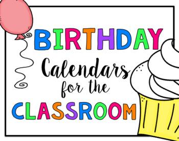 Birthday Calendar for the Classroom