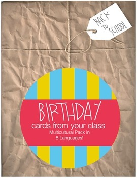 Birthday Card Collection: Multicutural Pack in 8 Languages