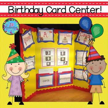Birthday Card Literacy Center (Printables)