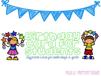 Birthday Card Printable