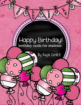 Birthday Cards -- Ink Friendly!