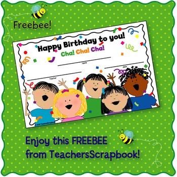 Birthday Certificate FREEBEE