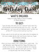 Birthday Chart Banner- Editable Bulletin Board Shabby Chic Style