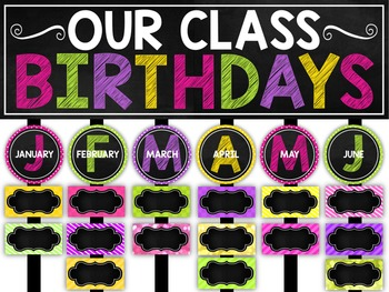 Birthday Chart ~ Chalkboard and Editable!
