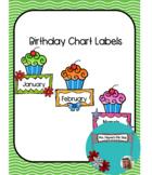 Birthday Chart Labels