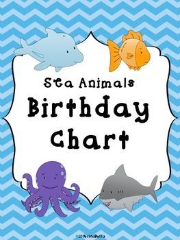 Birthday Chart - Sea Animals