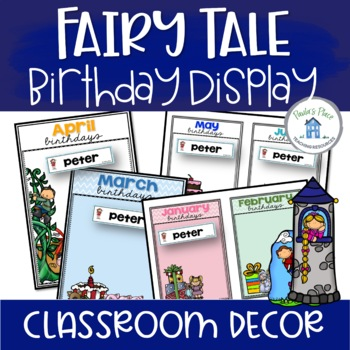 Birthday Charts with Editable Name Tags - Fairy Tale Theme