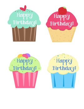 Birthday Cupcake Pencil Toppers