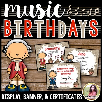 Birthday Bulletin Board Display, Certificates, & Banner {w