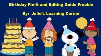 Birthday Fix-It and Editing Guide - Freebie