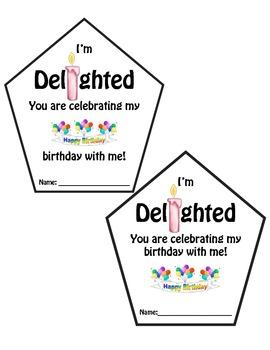 Birthday Goodie Bag Label