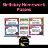 Birthday Homework Passes